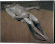 Study of a recumbent male nude Fine-Art Print