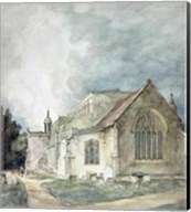 East Bergholt Church, c.1805-11 Fine-Art Print