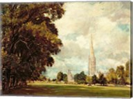 Salisbury Cathedral from Lower Marsh Close, 1820 Fine-Art Print
