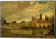 The Bridge of Harnham and Salisbury Cathedral Fine-Art Print