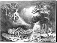 Faust and Mephistopheles at the Witches' Sabbath, from Goethe's Faust, 1828 Fine-Art Print