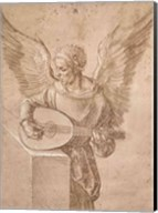 Angel playing a lute, 1491 Fine-Art Print