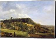 Forest Glade near a Village, 1833 Fine-Art Print