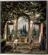 The Gardens of the Villa Medici in Rome Fine-Art Print