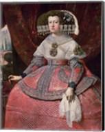 Queen Maria Anna of Spain in a red dress Fine-Art Print