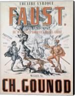 Poster advertising 'Faust', Opera Fine-Art Print