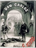 Poster advertising 'Don Carlos' Fine-Art Print