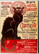 Poster advertising an exhibition of the 'Collection du Chat Noir' Cabaret Fine-Art Print