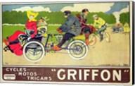 Poster advertising 'Griffon Cycles, Motos & Tricars' Fine-Art Print