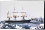 Clipper Ship Red Jacket in the ice off Cape Horn on her passage from Australia to Liverpool Fine-Art Print