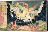 St. Michael and his angels fighting the dragon Fine-Art Print