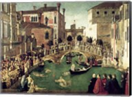 The Miracle of the Cross on San Lorenzo Bridge Fine-Art Print
