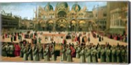 Procession in St. Mark's Square, 1496 Fine-Art Print