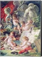Genius Teaching the Arts, 1761 Fine-Art Print