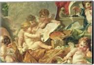 Genius Teaching the Arts, 1761 - detail Fine-Art Print