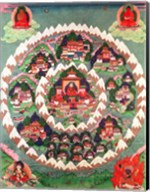 The Paradise of Shambhala, Tibetan Banner Fine-Art Print