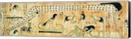 Funerary papyrus of Djedkhonsouefankh depicting Geb and Nut Fine-Art Print