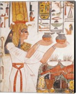 Nefertari Making an Offering, from the Tomb of Nefertari Fine-Art Print