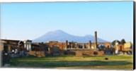 View of Vesuvius Over the Ruins of Popmeii Fine-Art Print
