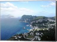 Aerial view of Capri Harbour Fine-Art Print