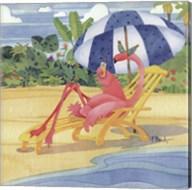 Deck Chair Flamingo Fine-Art Print