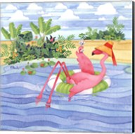 Martini Float Flamingo Fine-Art Print