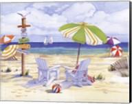 Beachside Chairs Fine-Art Print