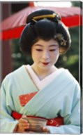 Young woman dressed as a Geisha, Japan Fine-Art Print