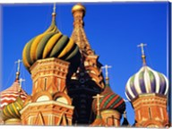 High section view of a cathedral, St. Basil's Cathedral, Moscow, Russia Fine-Art Print