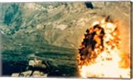 Missile hitting an M47 Tank Fine-Art Print