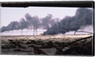 Kuwait: An Oil Field Set  Ablaze Fine-Art Print