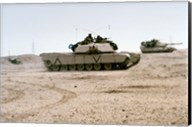 Kuwait: Two M-141 Abrams Main Battle Tanks Fine-Art Print