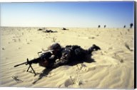 Saudi Arabia: Members of the 1st BN During Desert Shield Fine-Art Print