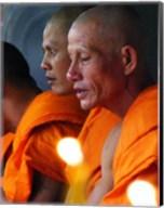 Buddhist Monk Meditation in Wat Khung Taphao Fine-Art Print