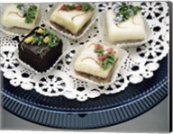 Close-up of assorted cakes on a plate Fine-Art Print