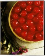 Close-up of a cherry covered cheesecake Fine-Art Print
