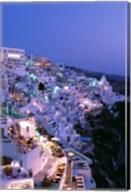 Night, Santorini, Thira (Fira), Cyclades Islands, Greece Fine-Art Print