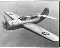 High angle view of a fighter plane in flight, Curtiss SB2C Helldiver, December 1941 Fine-Art Print