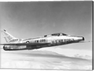 Side profile of a fighter plane in flight, F-100C Super Sabre Fine-Art Print