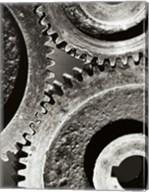Close-up of interlocked gears Fine-Art Print