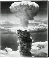 Mushroom cloud formed by atomic bomb explosion, Nagasaki, Japan, August 9, 1945 Fine-Art Print