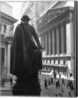 George Washington Statue, New York Stock Exchange, Wall Street, Manhattan, New York City, USA Fine-Art Print