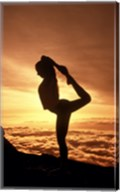 Silhouette of Yoga Pose at Sunset Fine-Art Print