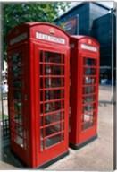 Two telephone booths, London, England Fine-Art Print