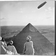 The Graf Zeppelin's Rendezvous with Pyraminds of Gizeh, Egypt Fine-Art Print