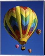 Yellow Rainbow Hot Air Balloon Fine-Art Print