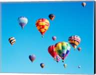 Group of Hot Air Balloons Floating Together in Albuquerque, New Mexico Fine-Art Print