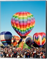 Floating hot air balloons, Albuquerque International Balloon Fiesta, Albuquerque, New Mexico, USA Fine-Art Print