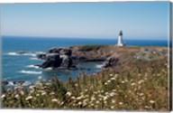 Lighthouse on the coast, Yaquina Head Lighthouse, Oregon, USA Fine-Art Print