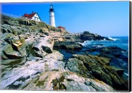 Lighthouse at the coast, Portland Head Lighthouse, Cape Elizabeth, Maine, USA Fine-Art Print
